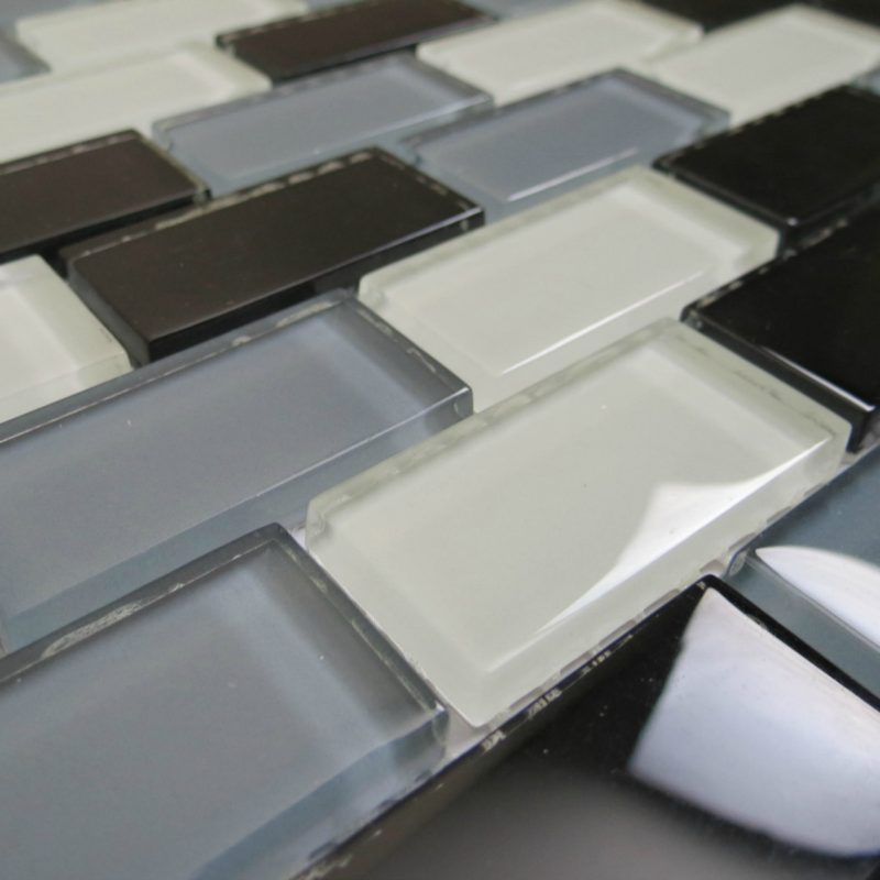 Black & White mosaic sheets from Glassmosaic.co.uk