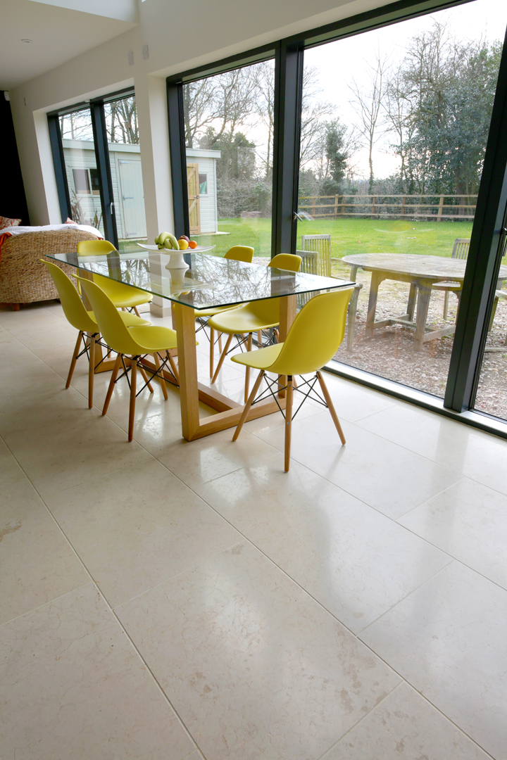 Crema Castello Brushed Limestone Tiles (3)