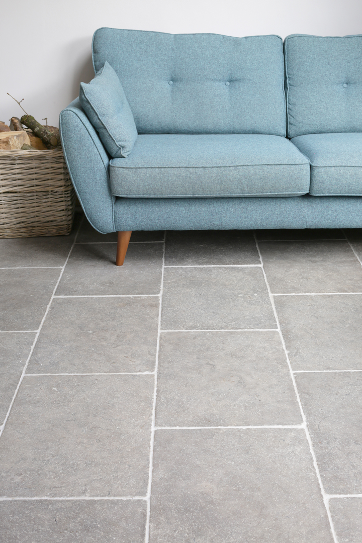 Milano Grey Tumbled Limestone Floor Tiles